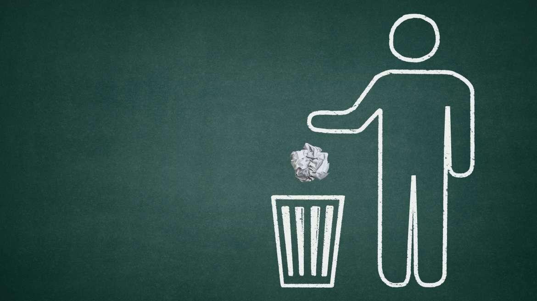 De uma vez por todas: lugar de lixo é na lixeira!